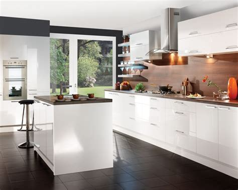 Modern White Kitchen Cabinets kitchen design & decor ideas gallery
