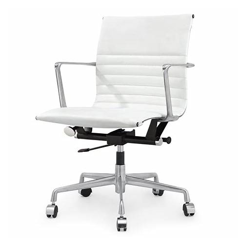 Modern White Leather Office Chair office design & decor ideas gallery