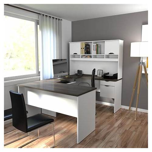 Modern White Office Desk office design & decor ideas gallery