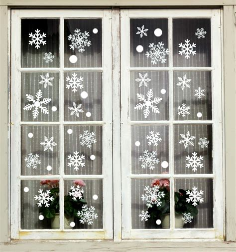 Moon Boat 184PCS White Snowflakes Window Clings Decal Stickers
