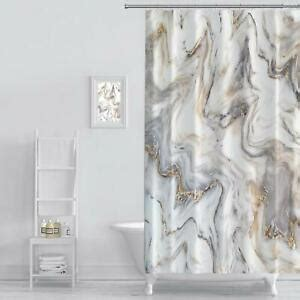 MuaToo Shower Curtain Marble Ink Texture Background Pattern Print