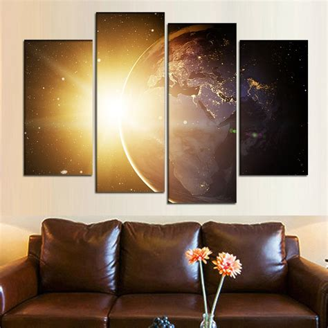 Natural art -Outer Space Planet Painting Canvas Prints Wall