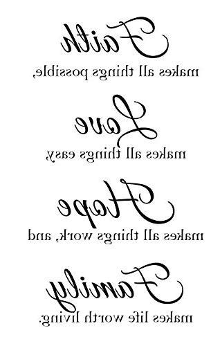 Newclew Faith Makes All Things Possible, Love Makes All