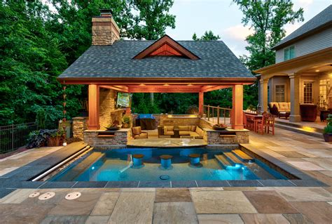 Outdoor Living Patio and Pool