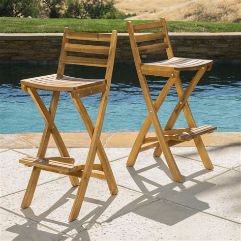 Outdoor Patio Bar Stools Wood