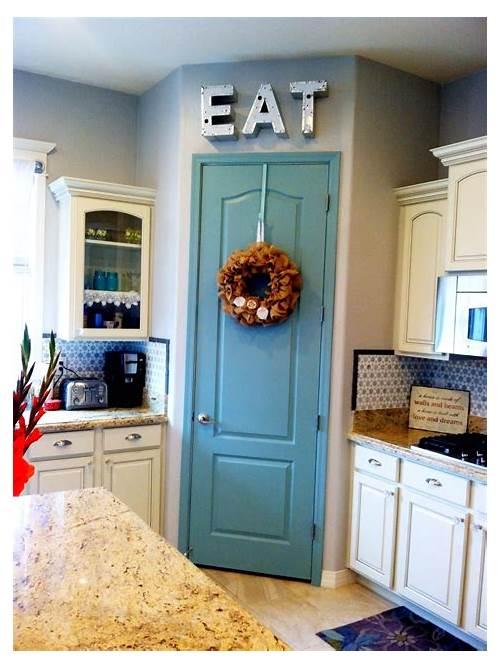 Painted Kitchen Pantry Door kitchen design & decor ideas gallery
