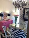 Pink and Black Office office design & decor ideas gallery