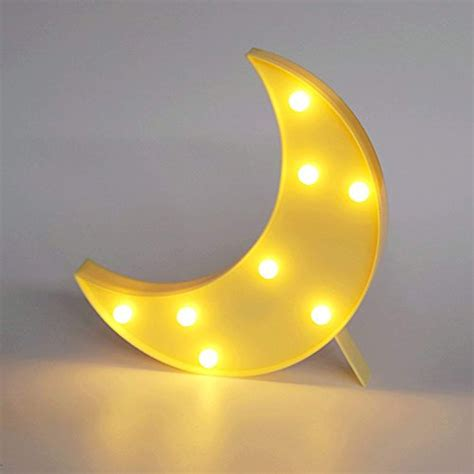 Pooqla Decorative LED Crescent Moon Marquee Sign - Moon