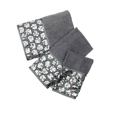 Popular Bath Bath Towels, Sinatra Collection, 3-Piece Set, Silver