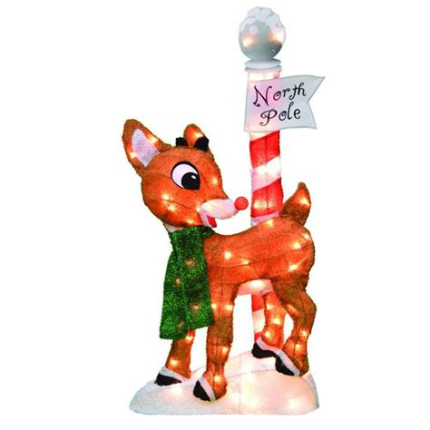 ProductWorks 32-Inch Pre-Lit Rudolph The Red-Nosed Reindeer Christmas Yard