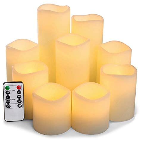 RY King Set of 9 Large Pillar Real Wax Flameless