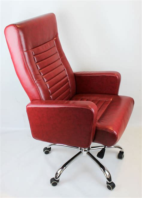 Red Leather Executive Office Chair office design & decor ideas gallery