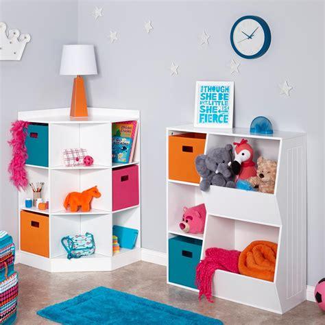 RiverRidge 02-144 6-Cubby, 3-Shelf Kids Corner Cabinet, White