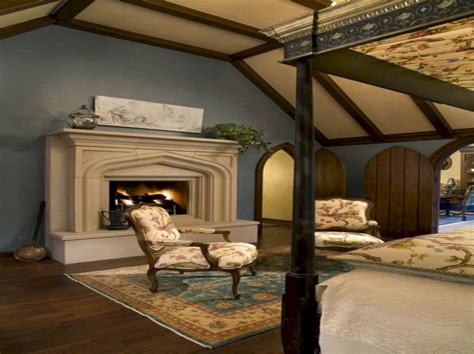 Romantic Bedroom with Fireplace bedroom design & decor ideas gallery