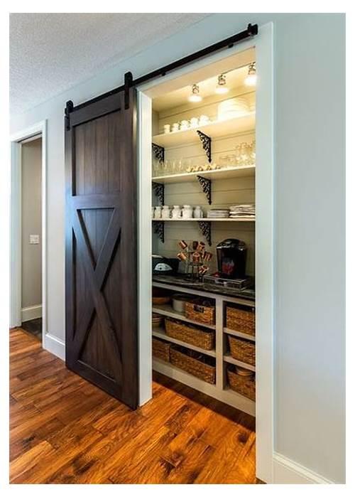 Sliding Barn Door Kitchen Pantry kitchen design & decor ideas gallery
