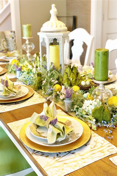Spring Dining Room Table Decor home decor & decor ideas gallery