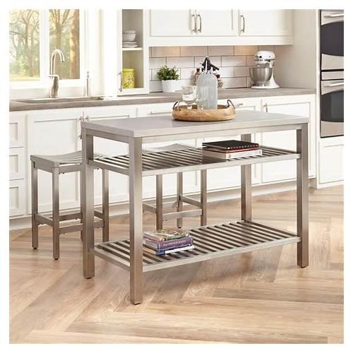 Stainless Steel Kitchen Island kitchen design & decor ideas gallery