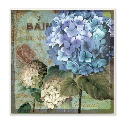 Stupell Home Décor Colorful Hydrangeas with Antique French