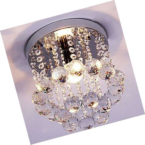 Surpars House Mini Style 1-Light Flush Mount Crystal Chandelier