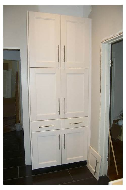 Tall Kitchen Pantry Cabinet White kitchen design & decor ideas gallery