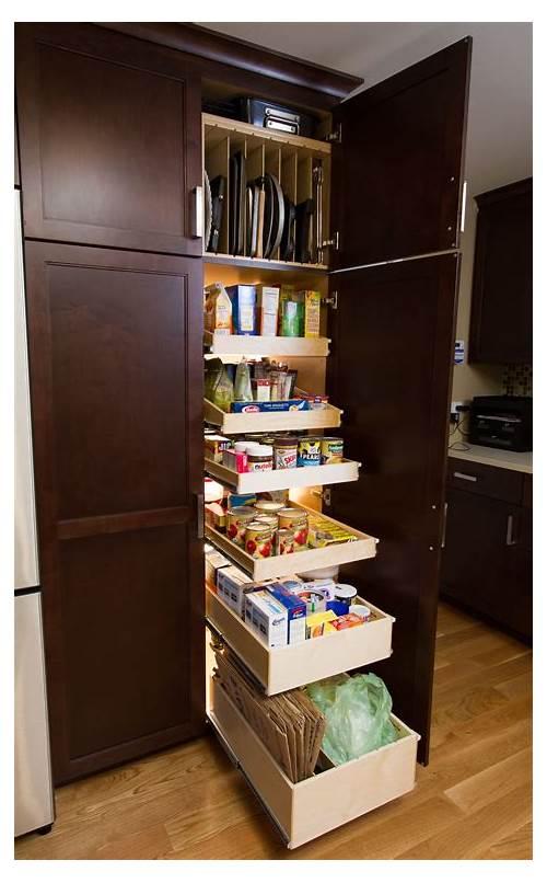 Tall Kitchen Pantry Storage Cabinet kitchen design & decor ideas gallery