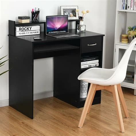 Tangkula Computer Desk, Home Office Wooden PC Laptop Desk,