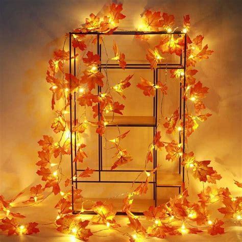 Thanksgiving Decorations Lighted Fall Garland, Thanksgiving Decor Halloween String