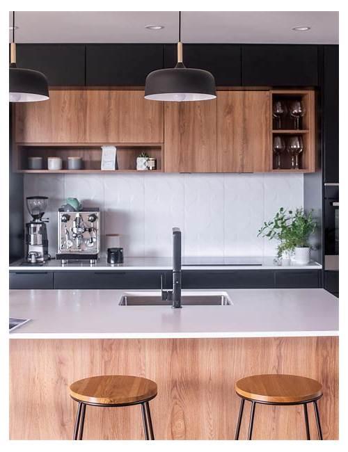 Timber and White Modern Kitchen kitchen design & decor ideas gallery