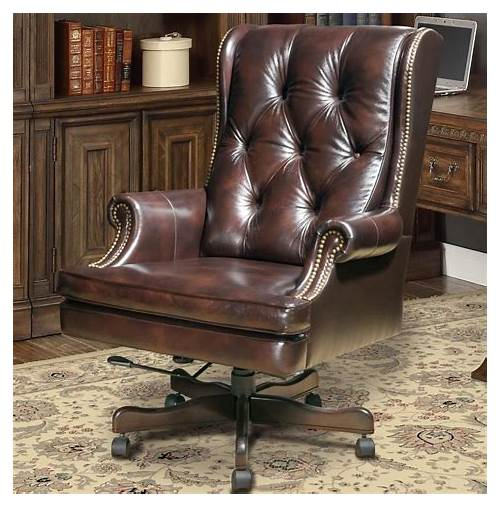 Timeless Leather Office Chair office design & decor ideas gallery