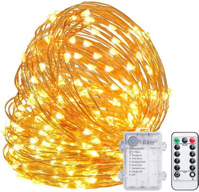 TingMiao Fairy Lights 32.8ft 100 LED String Lights Battery Operated