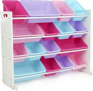 Tot Tutors WO574 Forever Collection Wood Toy Storage Organizer,