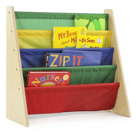 Tot Tutors WO671 Kids Book Rack Storage Bookshelf, Natural/