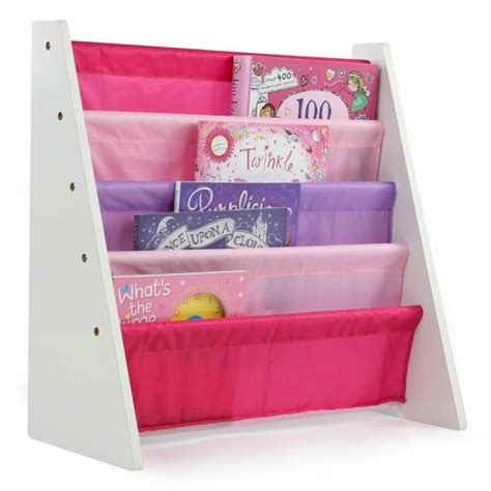 Tot Tutors WO697 Kids Book Rack Storage Bookshelf, White/