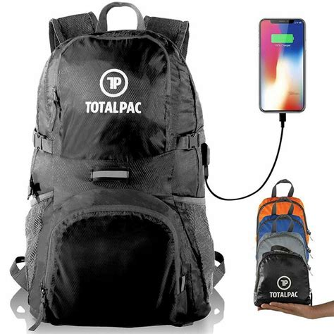 Totalpac Lightweight Foldable Packable Backpack - Perfect Daypack for
