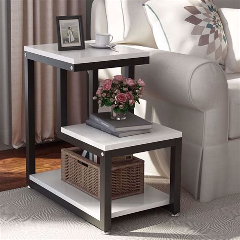 Tribesigns Modern End Tables, 3-Tier Chair Side Table Night