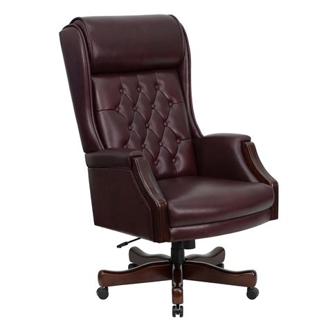 Tufted Leather Executive Office Chair office design & decor ideas gallery