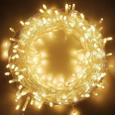 Twinkle Star 66FT 200 LED Indoor String Lights Warm White,