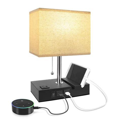 USB Table Lamp, Aooshine Bedside Table Lamps with 2 Useful