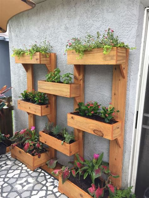 Vertical Wall Garden Idea