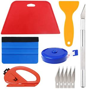 Wallpaper Smoothing Tool Kit Include red Squeegee,Medium-Hardness Squeegee,