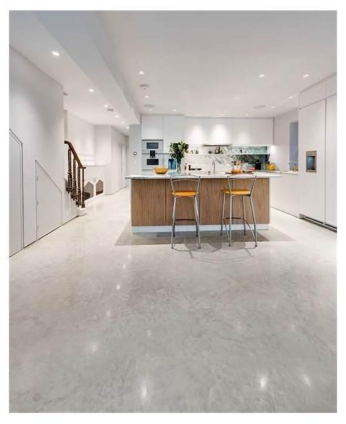 White Concrete Kitchen Floor kitchen design & decor ideas gallery