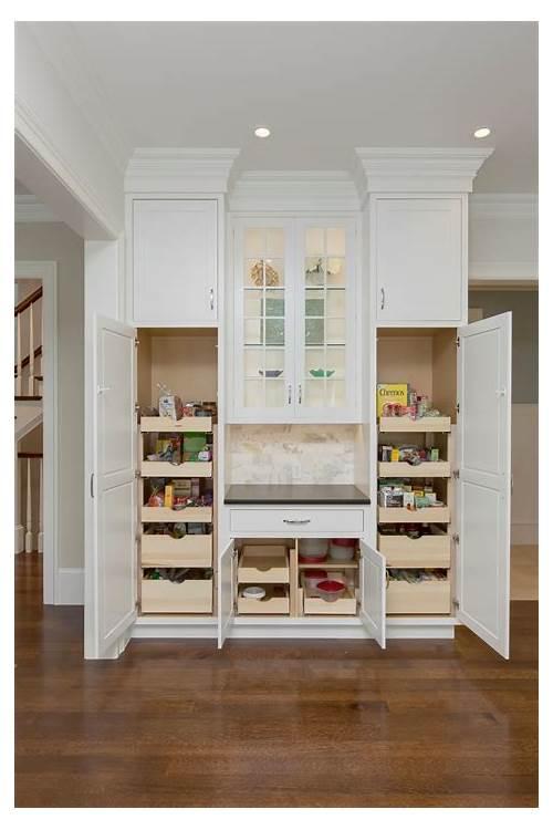 White Kitchen Pantry Cabinets kitchen design & decor ideas gallery