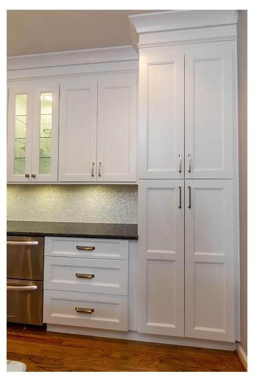 White Kitchen with Pantry Cabinet kitchen design & decor ideas gallery