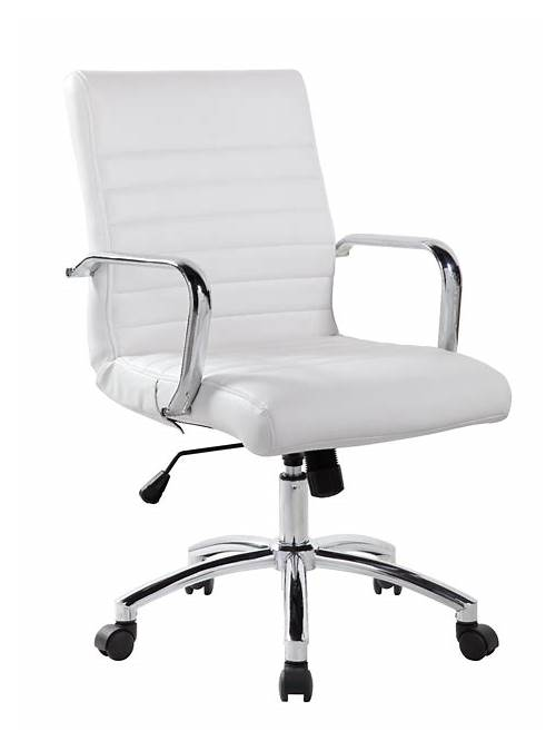 White Leather Office Chair office design & decor ideas gallery