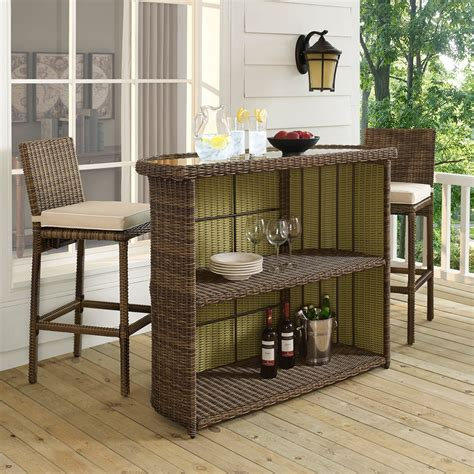 Wicker Outdoor Patio Bar Sets