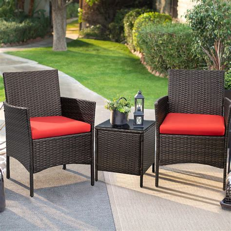 Wicker Patio Furniture Table and Chairs