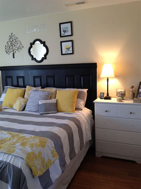 Yellow and Grey Master Bedroom bedroom design & decor ideas gallery