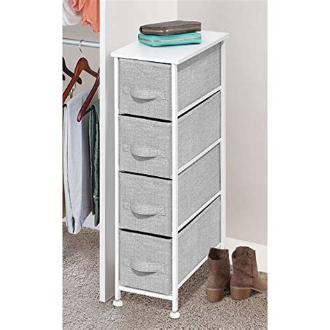 mDesign Narrow Vertical Dresser Storage Tower Furniture - Metal